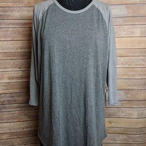 Lularoe 2X Gray Randy Shirt - NWT